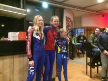 podium dames pupillen