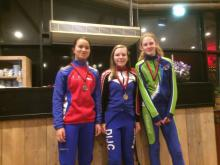 podium dames junioren
